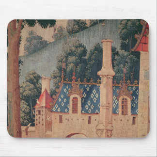 Fragment of a medieval tapestry mouse pad