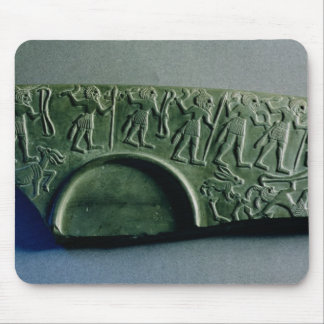 Fragment of a palette with a hunting scene, from A Mouse Pads