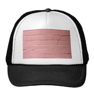 Fragment of a pink wall closeup trucker hat