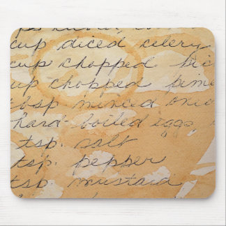 fragment of a recipe mouse pads
