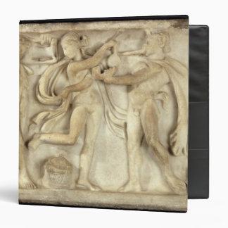 Fragment of a sarcophagus binder