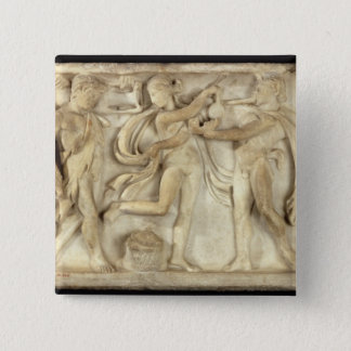 Fragment of a sarcophagus pinback button