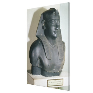 Fragment of an Egyptian style statue of Ptolemy I Stretched Canvas Prints