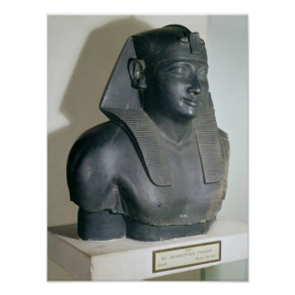 Fragment of an Egyptian style statue of Ptolemy I Print