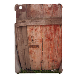 Fragment of an old wooden fence in the shade of th iPad mini cover