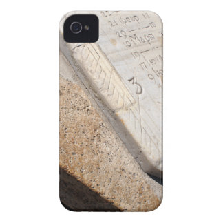 Fragment of ancient stone dial sundial closeup iPhone 4 cover