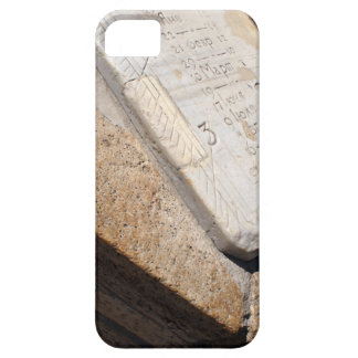 Fragment of ancient stone dial sundial closeup iPhone SE/5/5s case
