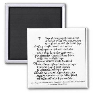 Fragment of Dante's  'Divina Commedia' Magnet