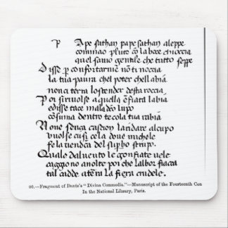 Fragment of Dante's  'Divina Commedia' Mouse Pad