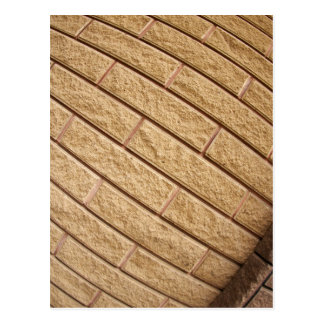 Fragment of decorative brickwork brown postcard