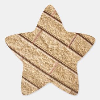 Fragment of decorative brickwork brown star sticker