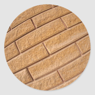 Fragment of decorative brown wall classic round sticker