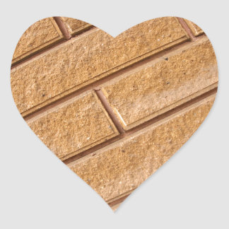 Fragment of decorative brown wall heart sticker