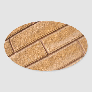 Fragment of decorative brown wall oval sticker