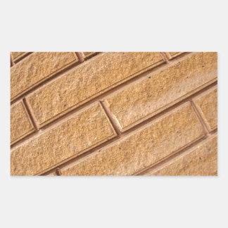 Fragment of decorative brown wall rectangular sticker