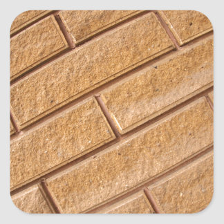 Fragment of decorative brown wall square sticker