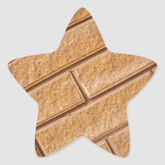 Fragment of decorative brown wall star sticker
