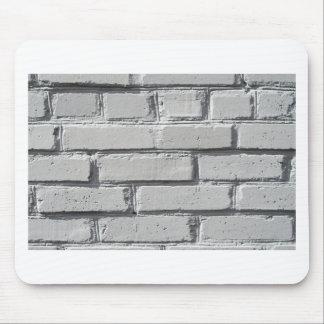 Fragment of gray brick wall closeup mouse pad