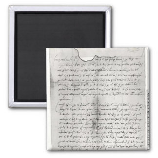 Fragment of letter written by Christopher Magnet