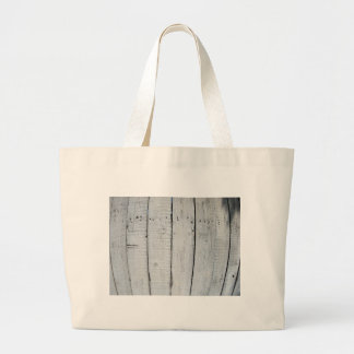 Fragment of old wooden fence painted gray jumbo tote bag