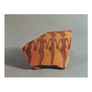 Fragment of pottery postcard