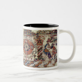 Fragment of textile depicting Jonah and the Whale Two-Tone Coffee Mug