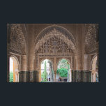 """Fragment of the design of the Alhambra. Canvas Print<br><div class=""""desc"""">Fragment of the design of the Alhambra. Travel. Spain. Granada. Alhambra. Granada is a city and a municipality in Spain, the capital of the province of Granada in the autonomous community of Andalusia. Granada is known as the Iberian and Phoenician settlement since 500 BC. e. later was under the authority...</div>"""