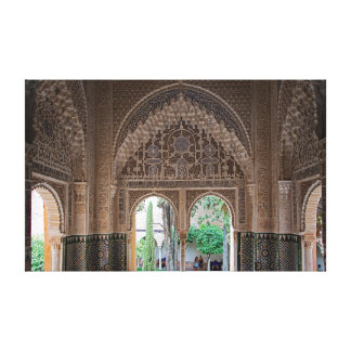 Fragment of the design of the Alhambra. Canvas Print