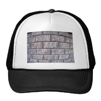 Fragment of the wall of the large gray concrete bl trucker hat