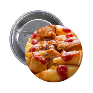 Fragment portion conchiglioni pasta and turkey pinback button