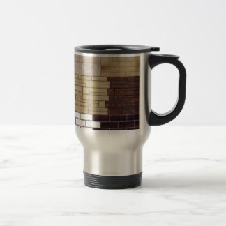 Fragment wall with different types of decorative c travel mug