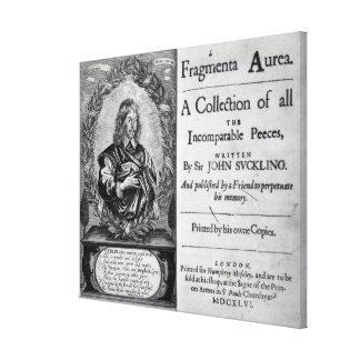 Fragmenta Aurea A Collection Canvas Print