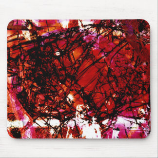Fragmentalize - Red Monochrome Mouse Pads