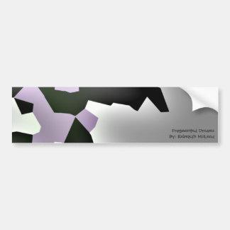"""Fragmented Dreams"" Geometric Art Bumper Sticker"