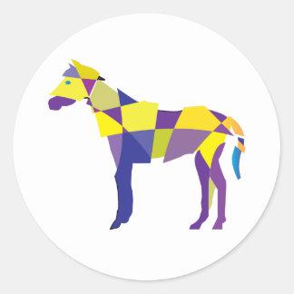 Fragmented Horse Classic Round Sticker