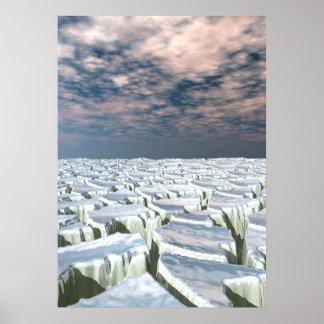 Fragmented Landscape Poster