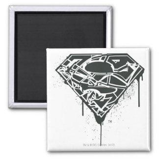 Fragmented Splatter Superman Logo Magnets