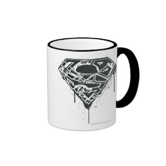 Fragmented Splatter Superman Logo Mug
