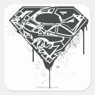 Fragmented Splatter Superman Logo Sticker