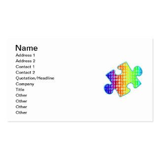 Fragmento de información tarjetas de visita