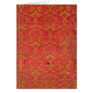 Fragmento de la materia textil, 14to/siglo XV Tarjeton