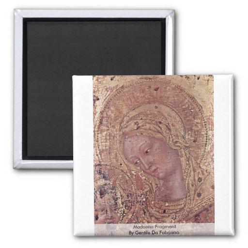 Fragmento de Madonna de Gentile da Fabriano Imán Para Frigorífico