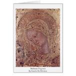 Fragmento de Madonna de Gentile da Fabriano Tarjeta