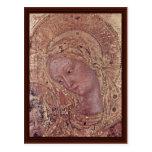 Fragmento de Madonna de Gentile da Fabriano Tarjeta Postal