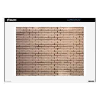 Fragmento de un beige de la pared de ladrillo con 38,1cm portátil calcomanía