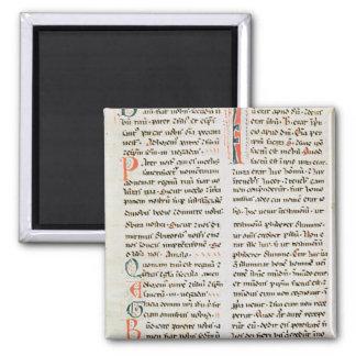 Fragmento de un manuscrito del Cathar Imán Cuadrado
