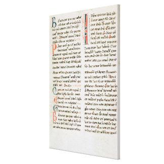 Fragmento de un manuscrito del Cathar Impresiones De Lienzo