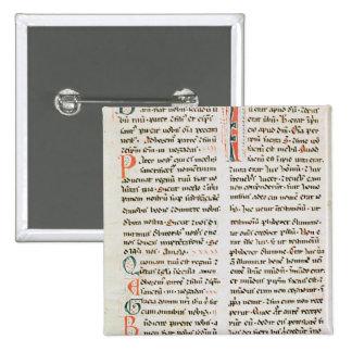 Fragmento de un manuscrito del Cathar Pin Cuadrado