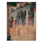 Fragmento de una tapicería medieval postal