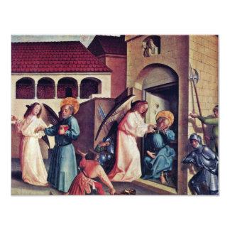 Fragmento del altar de Peter de un altar del Ca de Invitación 10,8 X 13,9 Cm